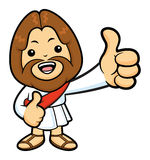 Jesus Character the best hand gesture of both hands. Royalty Free Stock Photography