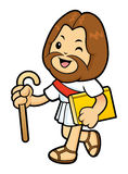 Jesus Character goes along a street. Royalty Free Stock Photo