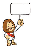 Jesus Character the hand is holding a picket. Stock Photography