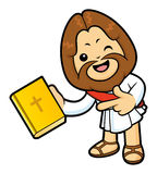 Jesus Character has been directed towards a Bible. Stock Photography