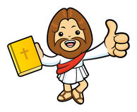 Jesus Character is holding a Bible and Best Gesture. Stock Photography
