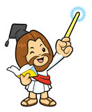 Jesus Character is holding a book and teaching. Royalty Free Stock Images