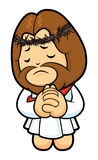 Jesus Character offered up prayers to God the Father. Royalty Free Stock Images