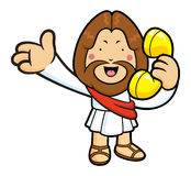 Jesus Character Please call me today. Royalty Free Stock Image