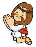 Jesus Character is prayed earnestly to God. Royalty Free Stock Photo