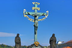 Jesus, Charles Bridge, Prague, Czech Republic Stock Photos