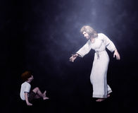 Jesus with a Child Illustration Stock Image
