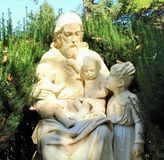 JESUS WITH CHILDREN royalty free stock photography