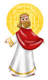 Jesus Christ. With blessing hands. Isolated image for children. Digital illustration drawn with graphic tablet vector illustration