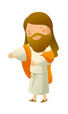 Jesus Christ. The Jesus Christ is smiling Royalty Free Stock Photography