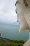 Jesus Christ above South China sea. The view from the shoulder of the giant statue of Christ in Vung Tau Stock Photos