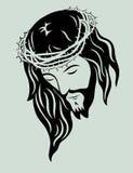 Jesus Christ affronta illustrazione vettoriale