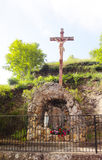 Jesus Christ altar - Conques - France Stock Photography