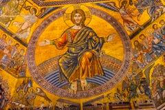 Jesus Christ Angels Mosaic Dome Bapistry Heilige John Florence Itay royalty-vrije stock fotografie