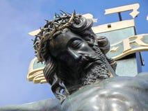 Jesus Christ auf dem Kreuz, Prag, Tschechische Republik lizenzfreie stockfotografie