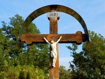 Jesus Christ auf Kreuz Lizenzfreie Stockfotografie