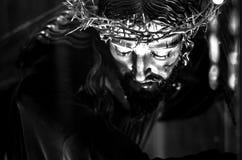 Jesus Christ in bianco e nero Fotografia Stock