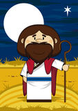 Jesus Christ Biblical Cartoon Character Photo libre de droits