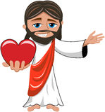 Jesus Christ Big Heart Love Isolated Stock Photo