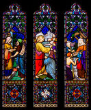 Jesus Christ Blessing and Healing Stained Glass Window Stock Photography