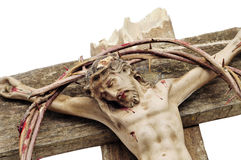 Jesus Christ and bloody crown of thorns Royalty Free Stock Photography