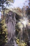Jesus Christ - a boa estátua do pastor na luz solar Imagens de Stock