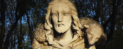 Jesus Christ - bom pastor Fotos de Stock