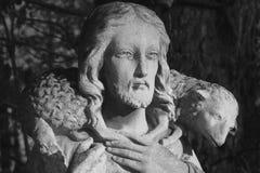 Jesus Christ - bom pastor (retro denominado) Fotos de Stock Royalty Free