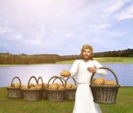 Jesus Christ Bread da ilustração da vida Imagens de Stock