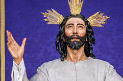 Jesus Christ, Brotherhood of the Supper. Image of Jesus Christ of Holy Week in Seville Royalty Free Stock Photos