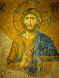 Jesus Christ, a Byzantine mosaic in Hagia Sophia Istanbul, Turke royalty free stock photography