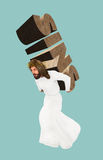 Jesus Christ Carry Sins Illustration Royalty Free Stock Photos