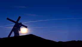 Jesus Christ Carrying Cross up Calvary on Good Friday Royalty Free Stock Photo
