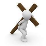 Jesus Christ carrying. His cross on the way to crucifixion Royalty Free Stock Images