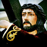 Jesus Christ carrying the Holy Cross Stock Photography