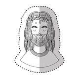 Jesus christ character religious icon. Vector illustration design Stock Image