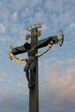 Jesus Christ on Charles bridge in Prague Royalty Free Stock Photography