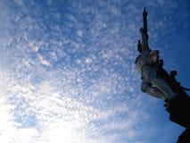 Jesus Christ che aumenta al cielo immagine stock libera da diritti