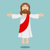 Jesus Christ Cheerful Figlio di Dio carattere biblico Gesù di N illustrazione vettoriale