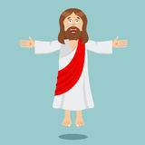 Jesus Christ Cheerful. Son of God. biblical character Jesus of N. Azareth. Christian and Catholic character. Holy man Royalty Free Stock Photos