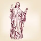Jesus Christ Christianity vector llustration. Jesus Christ Christianity hand drawn vector llustration Stock Photography
