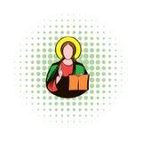 Jesus Christ comics icon Stock Images