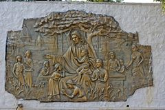Jesus Christ con bambini Fotografie Stock Libere da Diritti