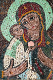 Jesus Christ cristmas mosaic Stock Image