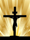 Jesus christ in the cross Stock Photography