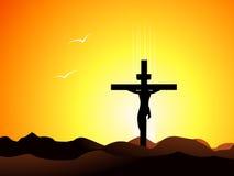 Jesus christ in the cross Stock Photo