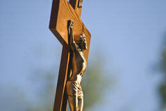 Jesus Christ in the cross Royalty Free Stock Photo