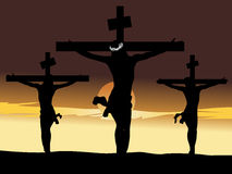 Jesus christ in the cross royalty free stock image