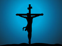 Jesus christ in the cross Royalty Free Stock Photos