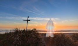 Jesus Christ And The Cross Royaltyfri Fotografi